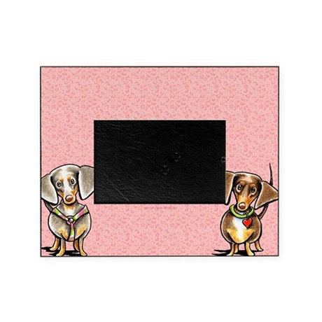Dappled Dachshunds Pink Leopard Pet Picture Frame