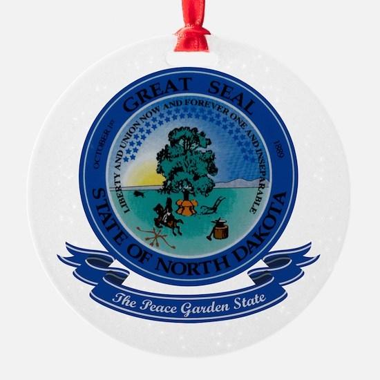 North Dakota Seal Ornament (Round)