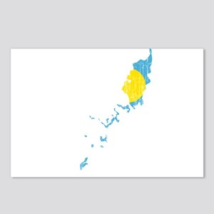 Palau Flag And Map Postcards (Package of 8)