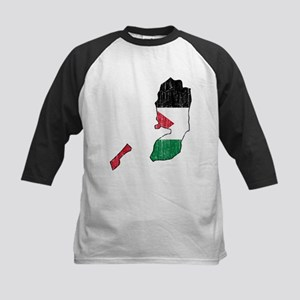 Palestine Flag And Map Kids Baseball Jersey