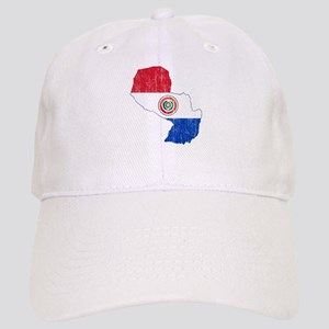 Paraguay Flag And Map Cap