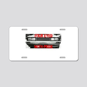 Four Eyed With Pride Aluminum License Plate