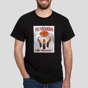 Thunderbirds All-American Basketball logo. Dark T-
