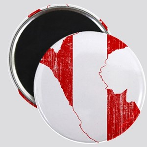 Peru Flag And Map Magnet