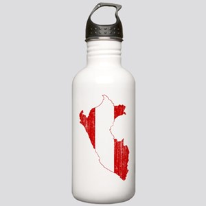 Peru Flag And Map Stainless Water Bottle 1.0L