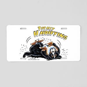 Bernese Mountain Dog Hairifying Aluminum License P