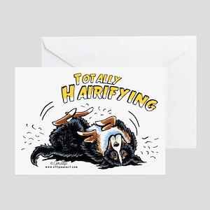 Bernese Mountain Dog Hairifying Greeting Card