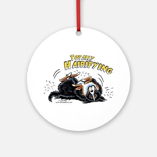 Bernese Mountain Dog Hairifying Ornament (Round)
