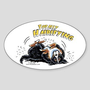 Bernese Mountain Dog Hairifying Sticker (Oval)