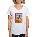 Potawatomi Pony Women's V-Neck T-Shirt