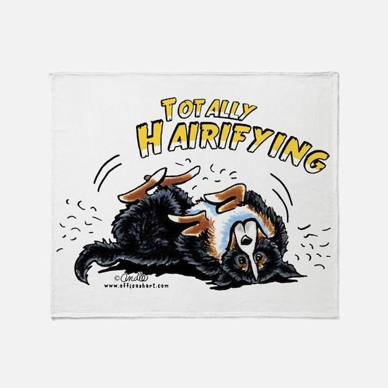 Bernese Mountain Dog Hairifying Throw Blanket