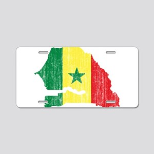 Senegal Flag And Map Aluminum License Plate