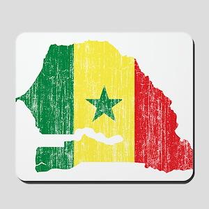 Senegal Flag And Map Mousepad