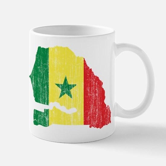 Senegal Flag And Map Mug