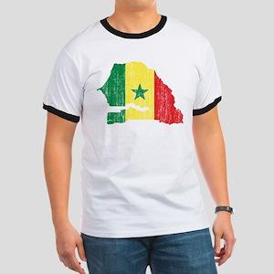 Senegal Flag And Map Ringer T