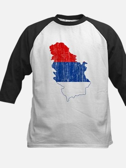 Serbia Civil Ensign Flag And Map Kids Baseball Jer