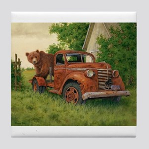 Lets Go Cinnamon Bear Tile Coaster