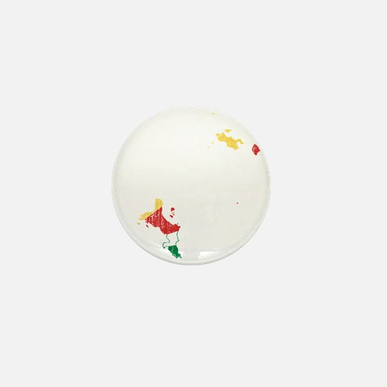 Seychelles Flag And Map Mini Button