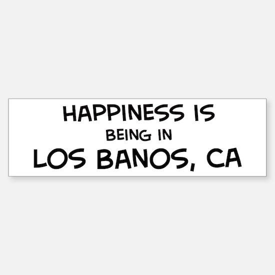 Los Banos - Happiness Bumper Bumper Bumper Sticker