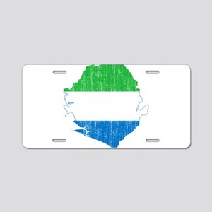 Sierra Leone Flag And Map Aluminum License Plate
