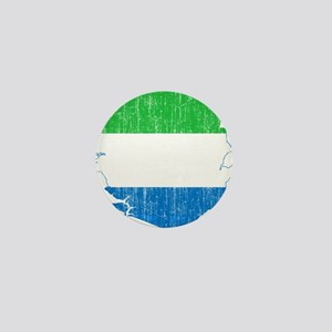 Sierra Leone Flag And Map Mini Button