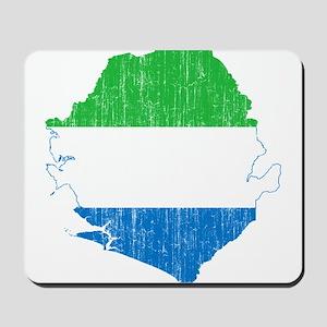 Sierra Leone Flag And Map Mousepad