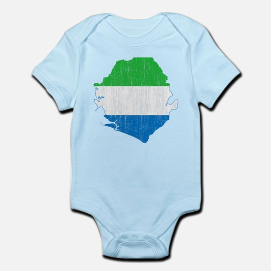 Sierra Leone Flag And Map Infant Bodysuit