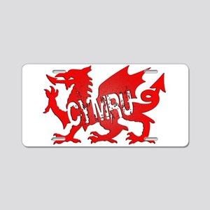 CYMRU DRAGON RED PLASTIC BLACK SHADOW Aluminum