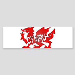 CYMRU DRAGON RED PLASTIC BLACK SHADOW Sticker