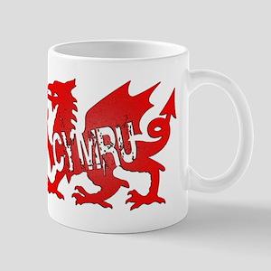 CYMRU DRAGON RED PLASTIC BLACK SHADOW Mug