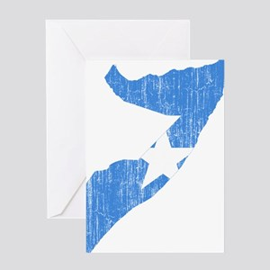 Somalia Flag And Map Greeting Card