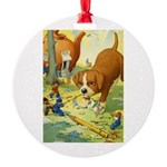 Teenie Weenies Round Ornament
