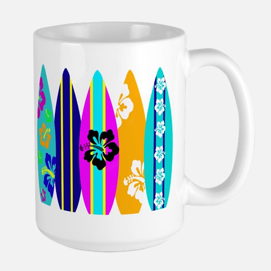 Surfboards Large Mug