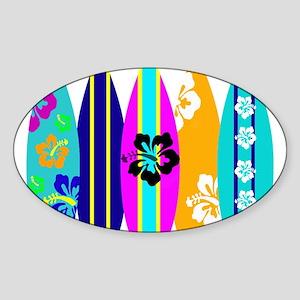 Surfboards Sticker (Oval)