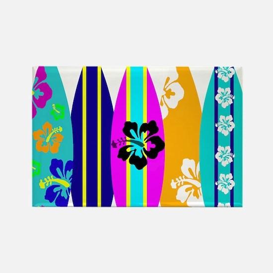 Surfboards Rectangle Magnet
