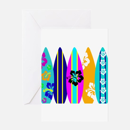 Surfboards Greeting Card