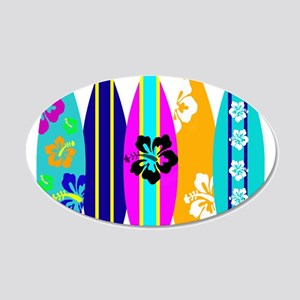 Surfboards 20x12 Oval Wall Decal