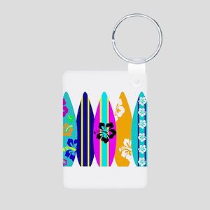 Surfboards Aluminum Photo Keychain