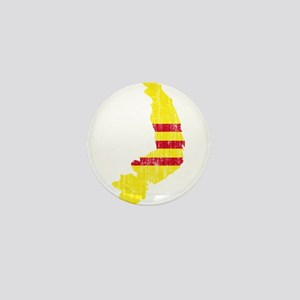 South Vietnam Flag And Map Mini Button