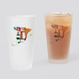 Spain Subdivisions Flag And Map Drinking Glass