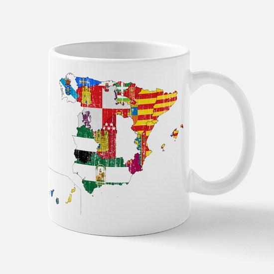 Spain Subdivisions Flag And Map Mug