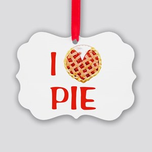 I Love Pie Picture Ornament
