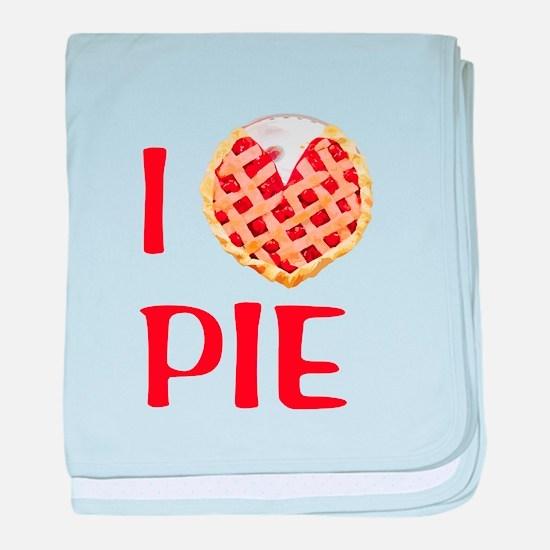 I Love Pie baby blanket