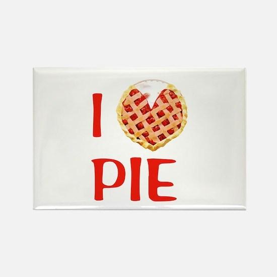 I Love Pie Rectangle Magnet