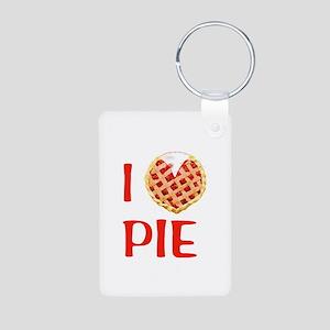 I Love Pie Aluminum Photo Keychain