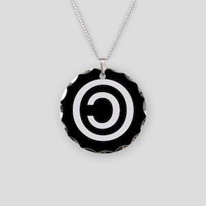Copyleft Necklace Circle Charm