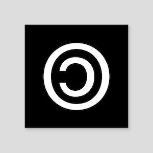 """Copyleft Square Sticker 3"""" x 3"""""""