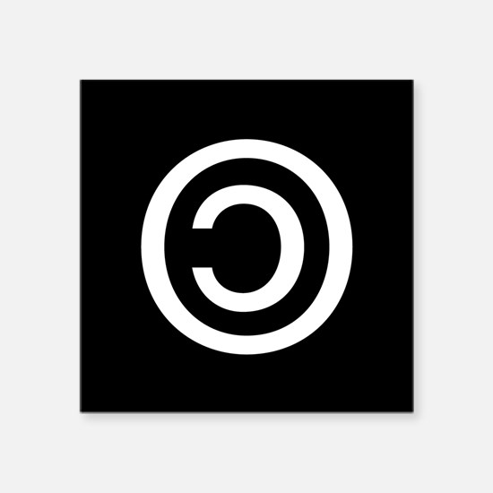 "Copyleft Square Sticker 3"" x 3"""