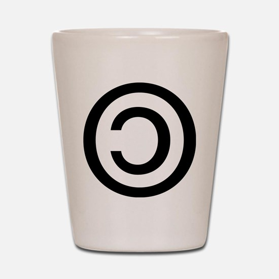 Copyleft Shot Glass