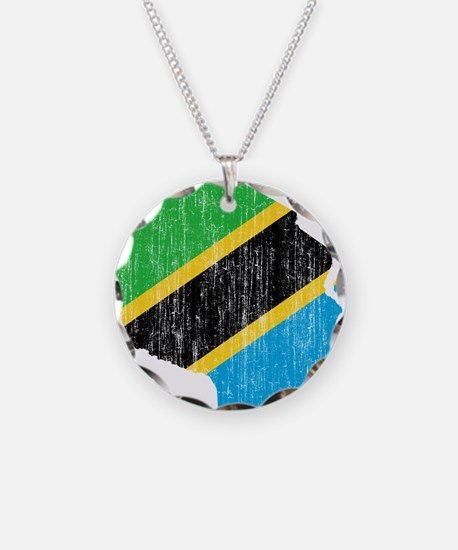 Tanzania Flag And Map Necklace